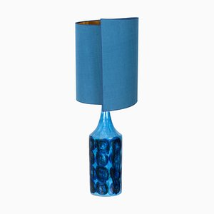 Ceramic Table Lamp with Silk Lampshade by Bitossi, 1960s