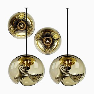 4-Light Fixtures by Koch & Lowy, 1970s, Set of 4
