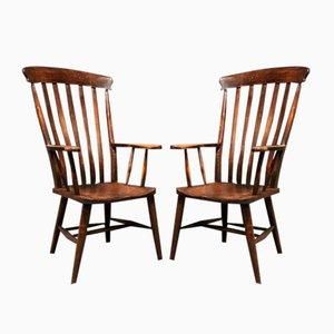 Englische Windsor Stühle, 1930er, 2er Set