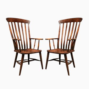 English Windsor Chairs, 1930s, Set of 2
