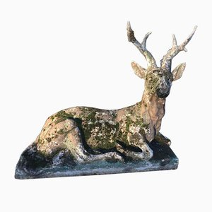 Late 19th Century French Blaton Concrete Stag
