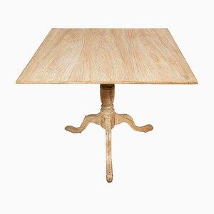 18th Century Swedish Elm Square Table on Tripod Base