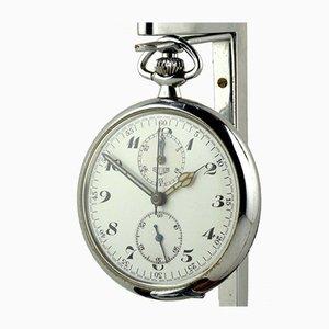 Montre Chronographe à Poche Émaillée de Eduard Heuer, Suisse, 1920s