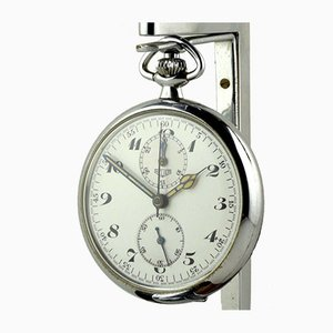 Reloj de bolsillo con cronógrafo esmaltado de Eduard Heuer, Switzerland, años 20