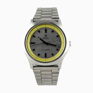 Reloj Seamaster grande en amarillo de Omega, años 60