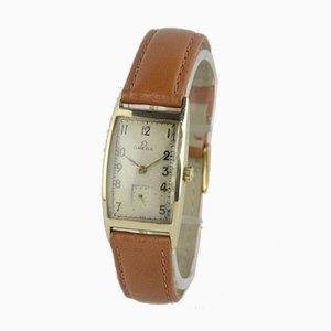 Rechteckige Uhr mit Goldgehäuse von Omega, 1940er