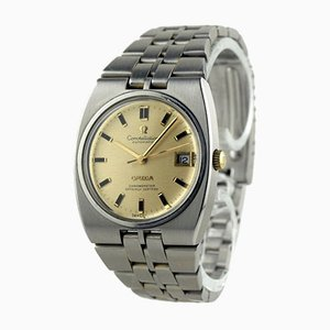 Steel Constellation Automatic Date Chronometer Watch from Omega, Switzerland, 1960s
