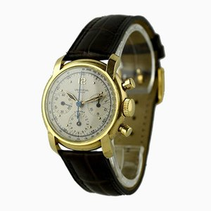 18K Waterproof Chronograph Watch from Universal, Switzerland, 1940s