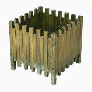 Grüner Holz Übertopf von Ettore Sottsass für Poltronova, 1960er