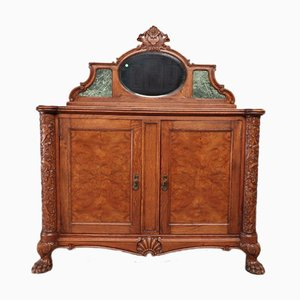 Antique Commode with Mirror, 1920s