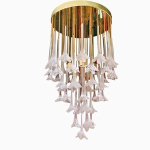 Murano Glass Floral Chandelier by Paolo Venini for VeArt, 1970s