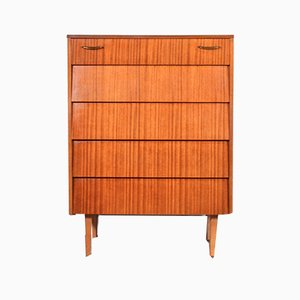 Mid-Century Teak and Brass Chest of Drawers from Avalon, 1960s