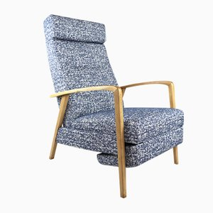 Vintage Blue Folding Chair, 1970s