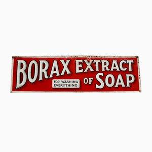 Antiker Borax Extrakt aus Seifen Werbeschild
