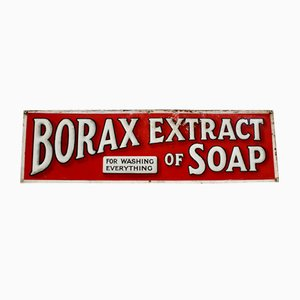 Antique Borax Extract of Soap Advertising Sign
