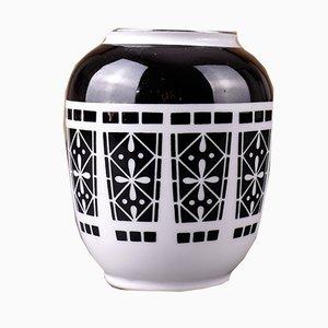 Hand-Painted Vase from VEB Porzellanfabrik Spechtsbrunn, 1960s