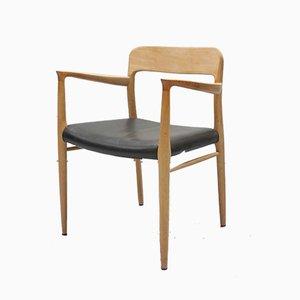 Mid-Century Danish Oak Model 75/76 Dining Chairs by Niels Otto Møller for J.L. Møllers, Set of 8