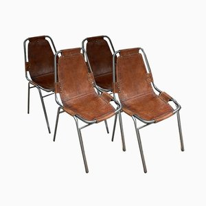 Mid-Century Les Arcs Chairs by Charlotte Perriand, 1960s, Set of 4