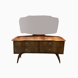 Walnut Dressing Table with Compass Feet, 1970s