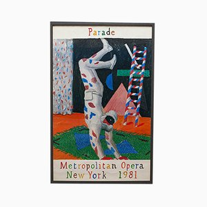Vintage American New York Met Opera David Hockney Poster, 1980s