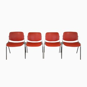 Italian Desk Chairs by Giancarlo Piretti for Castelli / Anonima Castelli, 1960s, Set of 4