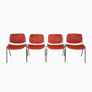 Italienische Schreibtischstühle von Giancarlo Piretti für Castelli / Anonima Castelli, 1960er, 4er Set