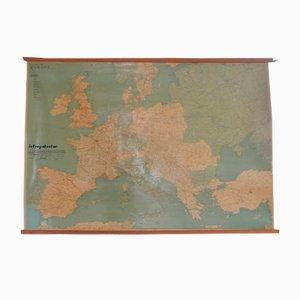 Italian Map of Europe from Studio Cartotecnico Ortelio Milano, 1970s