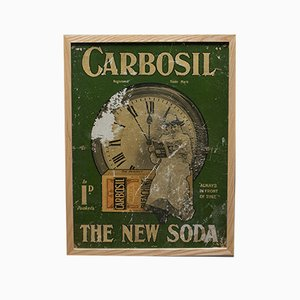 Antique Victorian English Carbosil Soap Advertisement Poster, 1900s