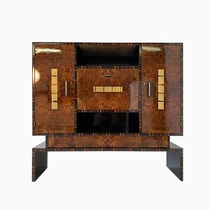 Art Deco Macassar and Walnut Cabinet, 1930s