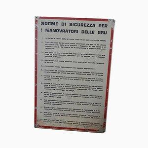 Industrial Italian Iron Sign, 1970s