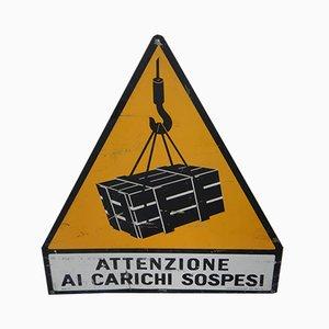 Industrielles Italienisches Schild aus Eisen, 1970er