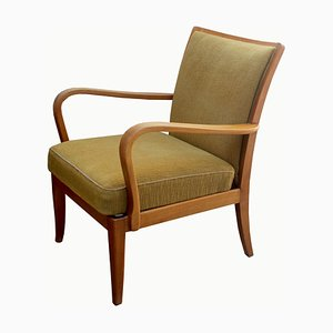 Mustard Yellow Lounge Chair from knoll Antimott, 1950s