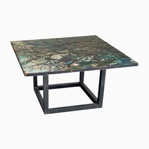Mosaic Enameled Copper Coffee Table by Giorgio Musoni, 1960s