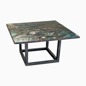 Mosaic Enameled Copper Coffee Table by Giorgio Musoni, 1960s