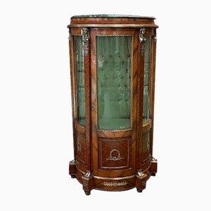 Empire Style Mahogany Display Cabinet, 1950s