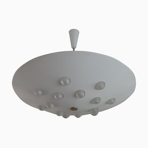 Holophane Glass Ceiling Lamp by Gino Sarfatti for Stilnovo, 1949