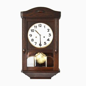 Antique Wall Clock with Gong from Junghans, 1900s