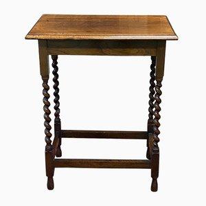Vintage English Oak Side Table