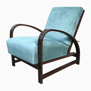 Adjustable Lounge Chairs Attributed to Jindřich Halabala, 1930s, Set of 2