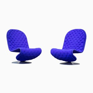 Vintage Model System 1-2-3 Armchairs by Verner Panton for Fritz Hansen, Set of 2