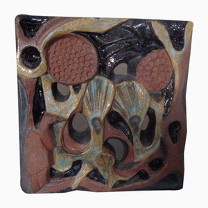 Ceramic Wall Plaque by Gerhard Liebenthron, 1980s