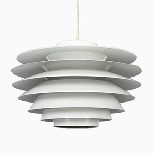 Large White Verona Pendant Lamp by Svend Middelboe for Nordisk Solar, 1970s