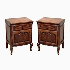 Oak Nightstands, 1920s, Set of 2