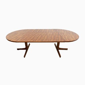 Mid-Century Danish Extendable Teak Dining Table by Niels Bach for Bramin