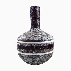Vase with Narrow Neck in Glazed Ceramic from Upsala-Ekeby, Sweden, 1960s