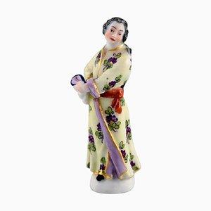 Antike Handbemalte Porzellan Figurine aus Porzellan