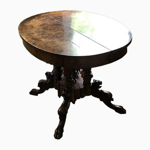 Antique Gründerzeit Walnut Table Mythical Creatures