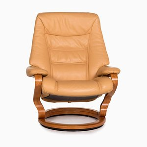 Beige Leather Armchair with Relax Function from Himolla