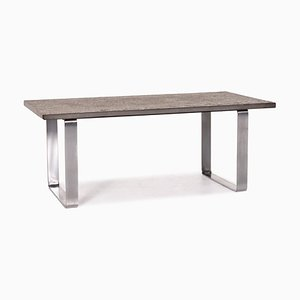 Dark Brown Anthracite Primus Slate Coffee Table by Peter Draenert for Draenert