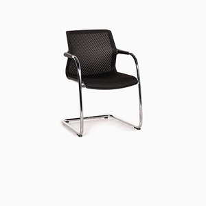 Black Fabric Unix Cantilever Dining Chair from Vitra